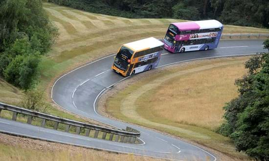 RDW type approval testing for buses on Hill Route at Millbrook Proving Ground