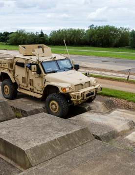 Military vehicle testing at Millbrook