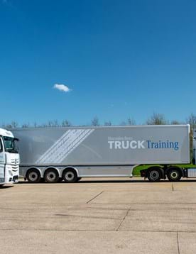 Driving event for Mercedes Benz Trucks UK hosted at corporate event venue at Millbrook near Milton Keynes and Bedford