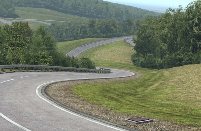 Millbrook Virtual Proving Ground - test track simulation of Hill Route, also known as the Alpine Circuit