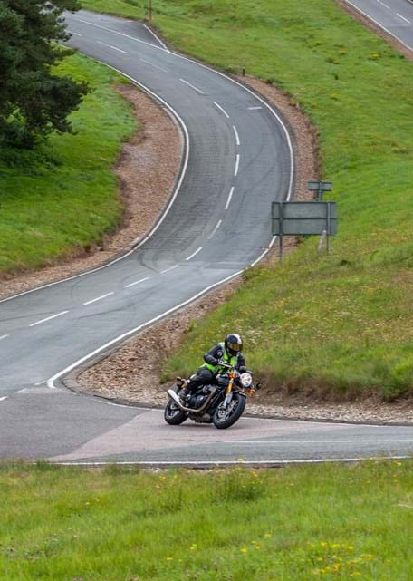 Motorcycle durability testing on Hill Route at Millbrook Proving Ground