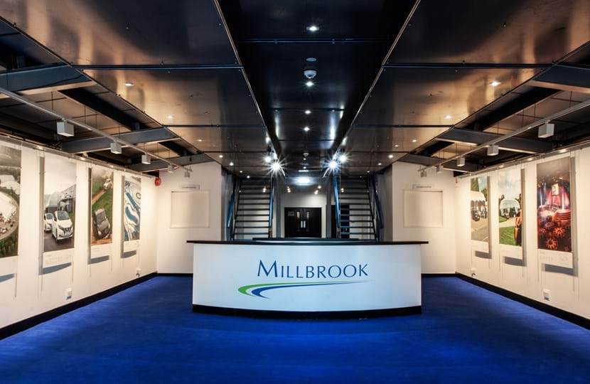 Corporate event venue reception in Concept 1 at Millbrook Proving Ground