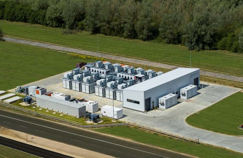 Battery performance test facility at Millbrook Proving Ground view from the air