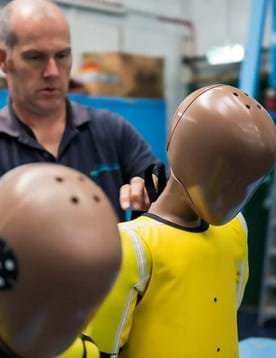 Crash test dummy certification and calibration laboratory at Millbrook