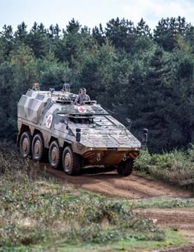 Defence vehicle testing on the off-road test tracks at Millbrook Proving Ground