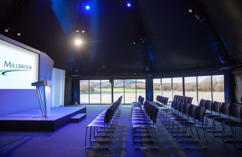 Corporate event conference venue for hire at Millbrook Proving Ground near Milton Keynes and Bedford