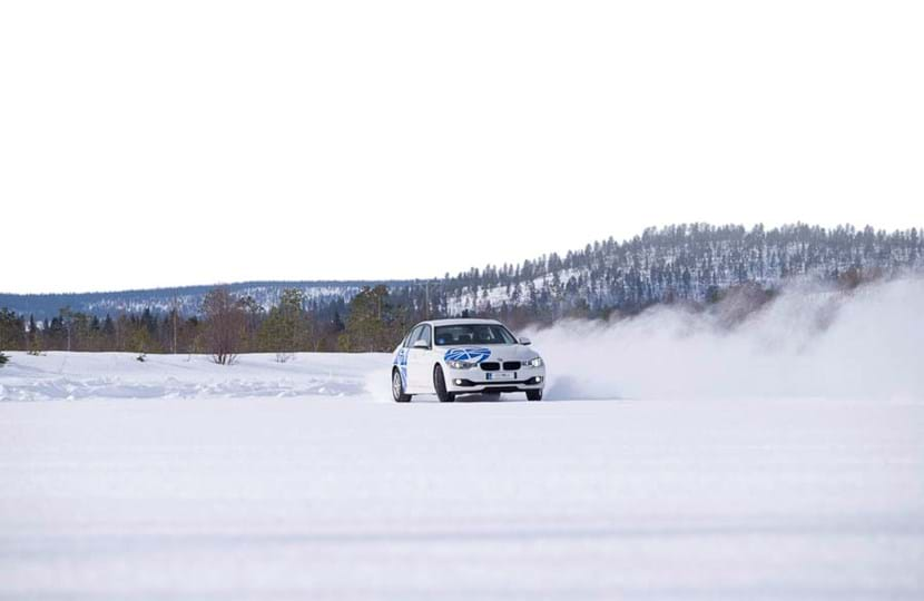 Winter driving experience and filming location at Test World in Finland
