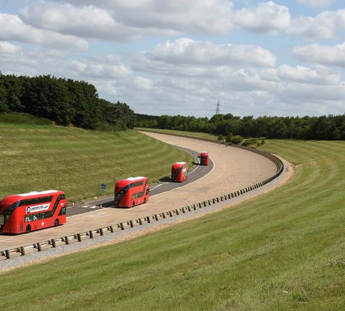 Bus durability and reliability testing on the High Speed Circuit at Millbrook Proving Ground