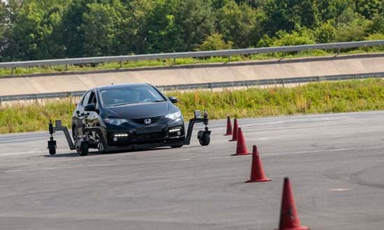 Corporate driver skid pan training at Millbrook Proving Ground