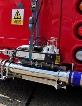 Bus emissions test cycle on a London bus fitted with PEMS test equipment, collecting real driving emissions test data