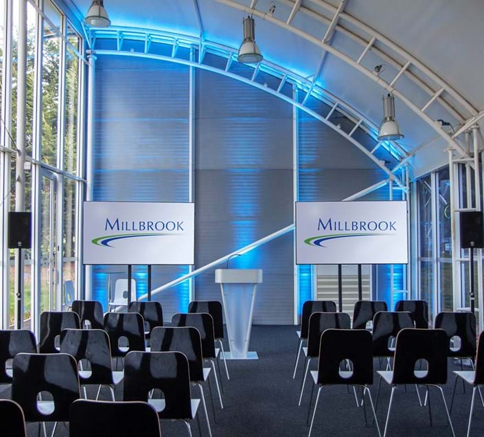 Corporate driving days and conference venue for hire - Cubo at Millbrook Proving Ground near Milton Keynes
